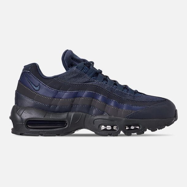 Right view of Men's Nike Air Max 95 Essential Casual Shoes in Squadron Blue/Midnight Navy