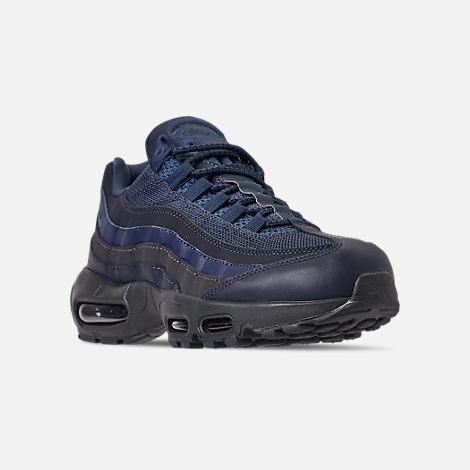 hot sale online ab4ea ec9c2 Three Quarter view of Men s Nike Air Max 95 Essential Casual Shoes in  Squadron Blue