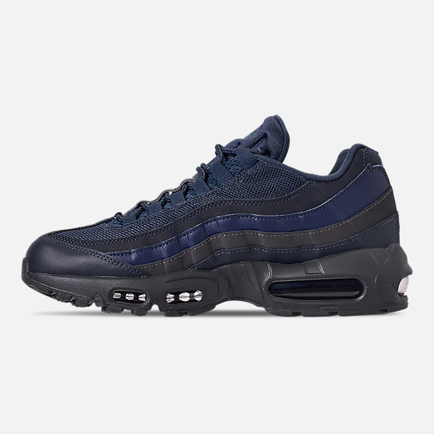 Left view of Men's Nike Air Max 95 Essential Casual Shoes in Squadron Blue/Midnight Navy