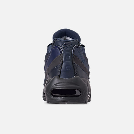 Back view of Men's Nike Air Max 95 Essential Casual Shoes in Squadron Blue/Midnight Navy