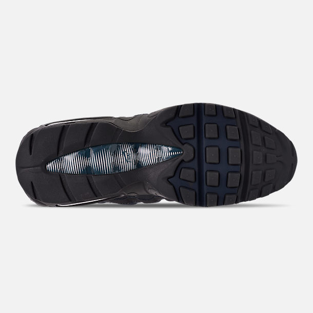 Bottom view of Men's Nike Air Max 95 Essential Casual Shoes in Squadron Blue/Midnight Navy