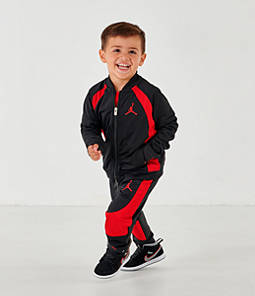 Boys' Toddler Air Jordan Retro 1 Tricot Track Jacket and Pants Set