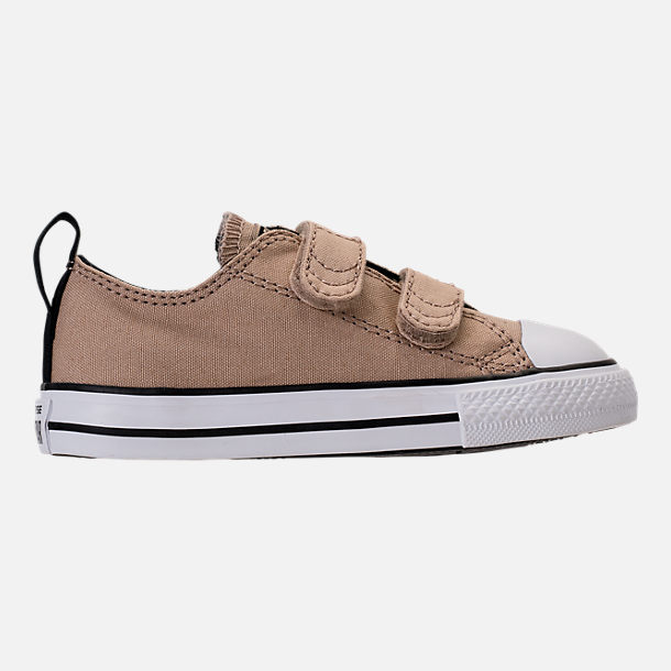 Right view of Boys' Toddler Converse Chuck Taylor All Star Ox Hook-and-Loop Casual Shoes in Vintage Khaki/Black
