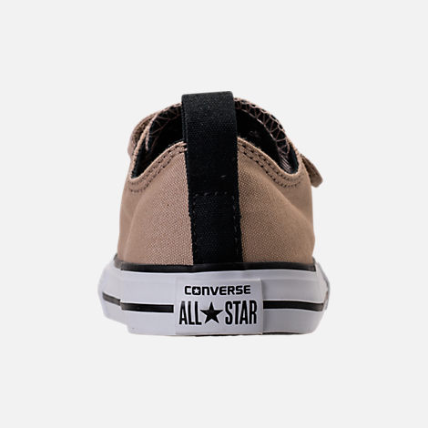 Back view of Boys' Toddler Converse Chuck Taylor All Star Ox Hook-and-Loop Casual Shoes in Vintage Khaki/Black