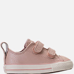 Girls' Toddler Converse Chuck Taylor Ox Leather Hook-and-Loop Strap Casual Shoes