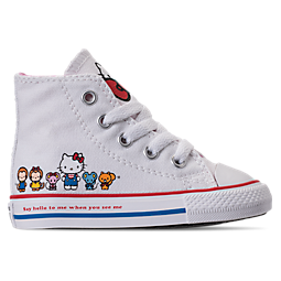 Image of GIRLS' TODDLER CONVERSE CHUCK TAYLOR ALL STAR HI HELLO KITTY