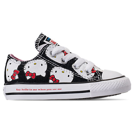baec95701ad2ed Converse Girls  Toddler Chuck Taylor All Star Hello Kitty Ox Casual Shoes