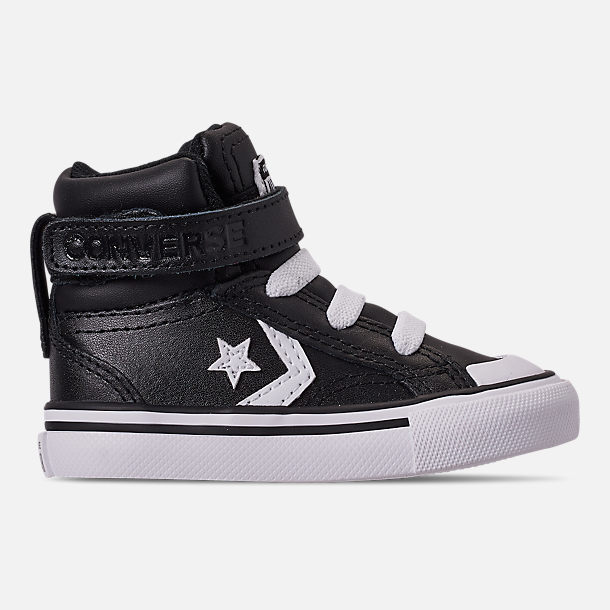 Right view of Boys' Toddler Converse Pro Blaze Strap Hi Casual Shoes in Black/White/White