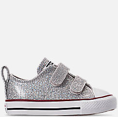 67a443957943 Girls  Toddler Converse Chuck Taylor All Star Ox Hook-and-Loop Casual Shoes