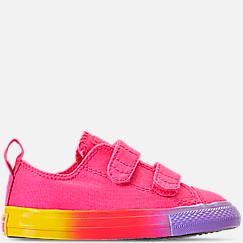 Girls' Toddler Converse Chuck Taylor Low Top 2V Hook-and-Loop Casual Shoes
