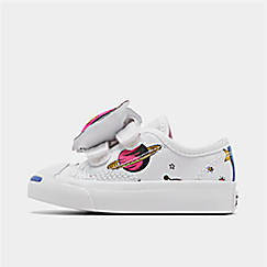 Girls' Toddler Converse Jack Purcell Space Pack Hook-and-Loop Casual Shoes