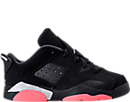 Girls' Preschool Jordan Retro 6 Low Basketball Shoes
