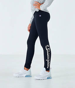 Girls' Champion Script Logo Graphic Leggings