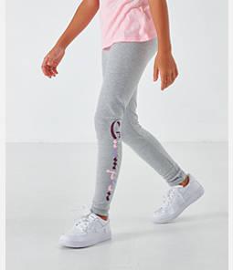 Girls' Champion Script Logo Graphic Leggings