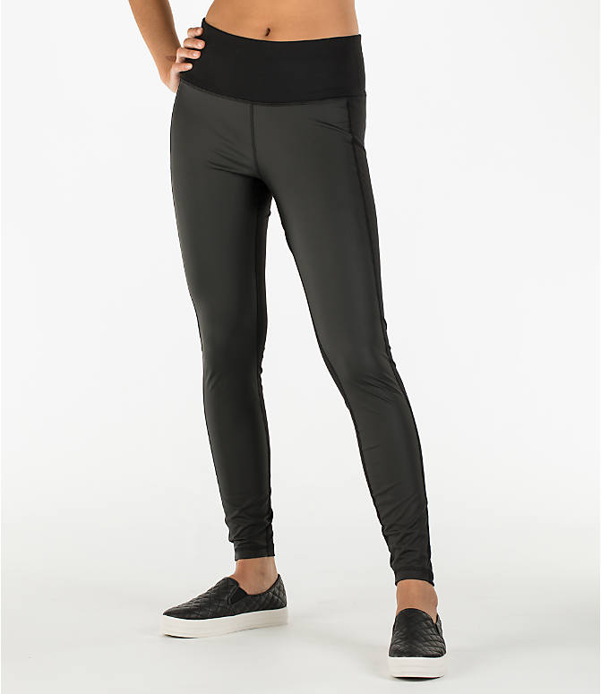 Front Three Quarter view of Women's Activ8 Urban Training Tights in Deep Black