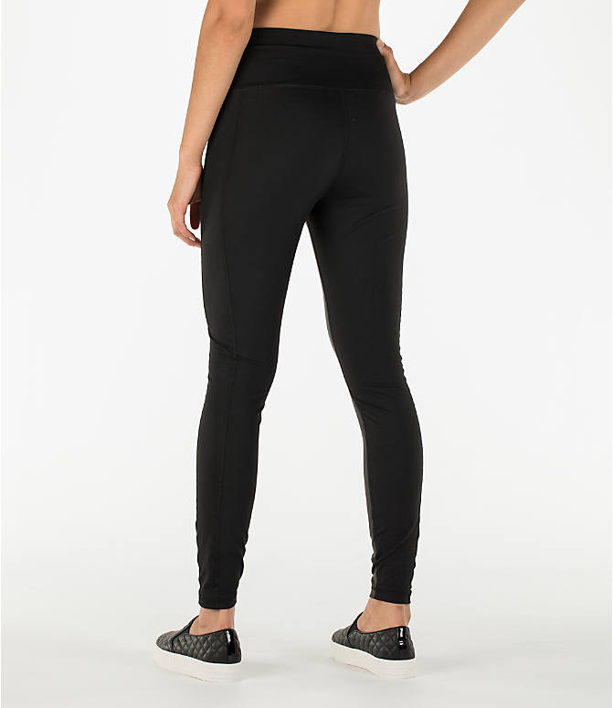 Back Left view of Women's Activ8 Urban Training Tights in Deep Black