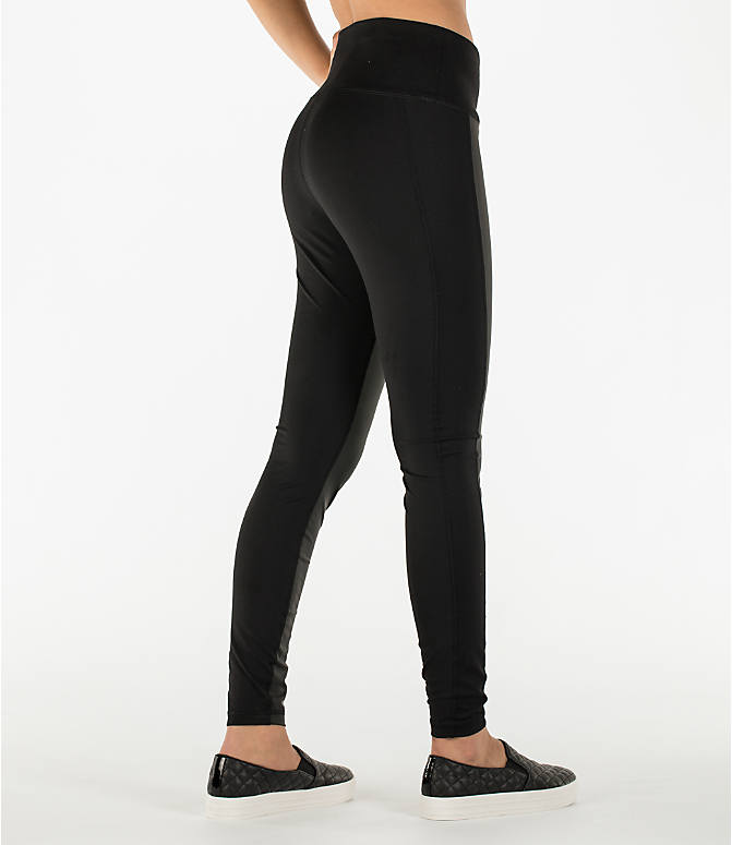 Back Right view of Women's Activ8 Urban Training Tights in Deep Black