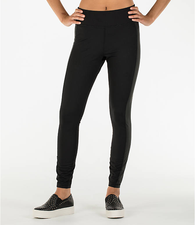 Front view of Women's Activ8 Urban Studio Jean Leggings in Deep Black