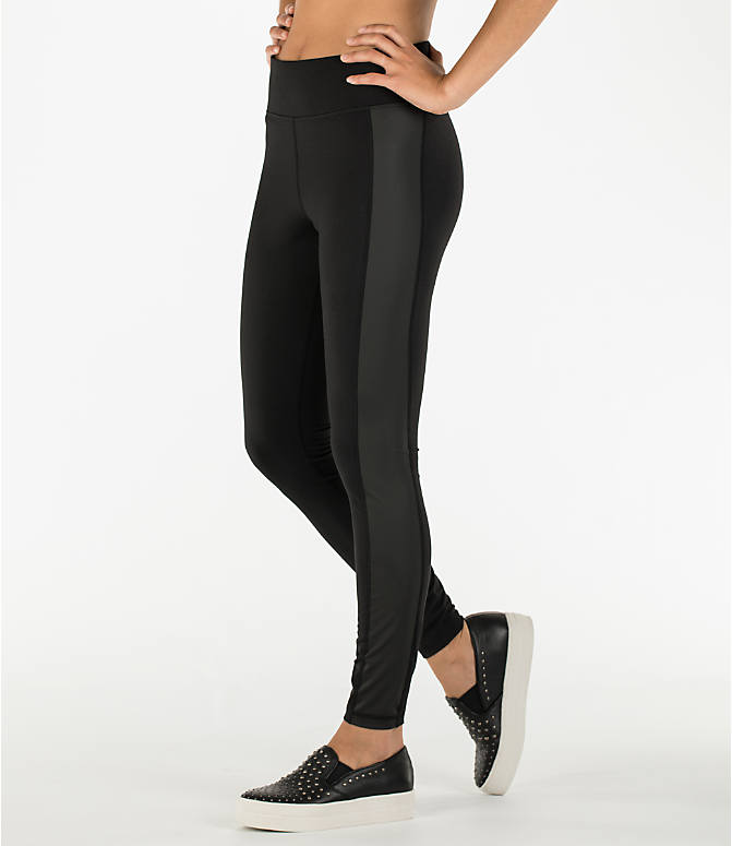 Front Three Quarter view of Women's Activ8 Urban Studio Jean Leggings in Deep Black