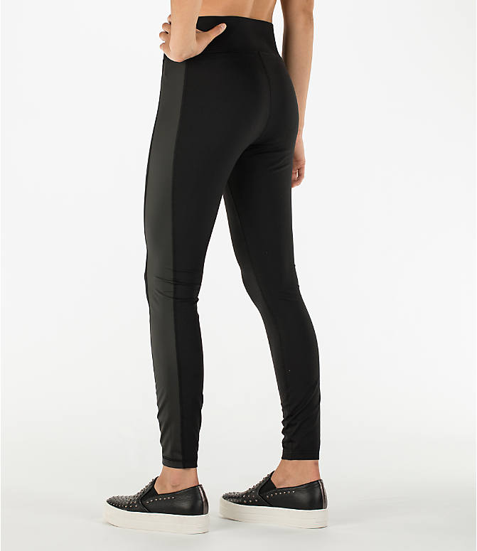 Back Left view of Women's Activ8 Urban Studio Jean Leggings in Deep Black