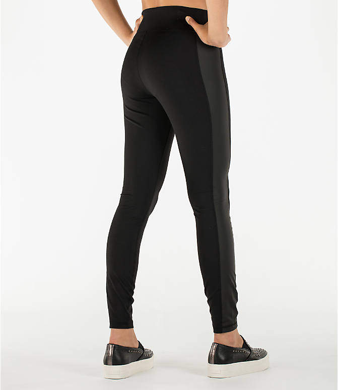 Back Right view of Women's Activ8 Urban Studio Jean Leggings in Deep Black