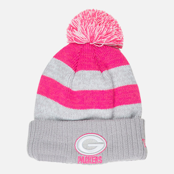 543820ae1 Front view of New Era Green Bay Packers NFL 2016 Breast Cancer Awareness  Sport Knit Hat