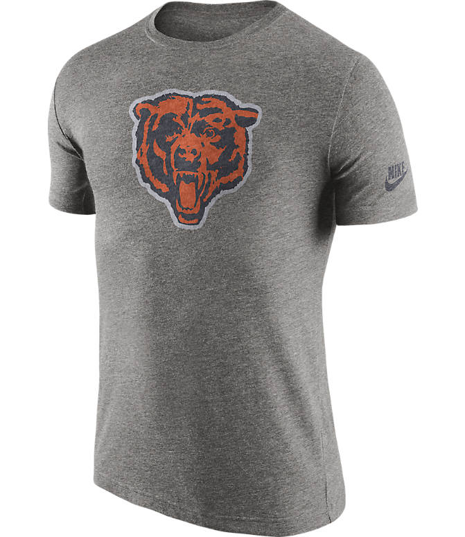 Front view of Men's Nike Chicago Bears NFL Historic Logo T-Shirt in Grey