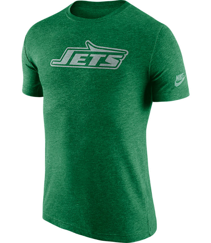 Front view of Men's Nike New York Jets NFL Historic Logo T-Shirt in Green
