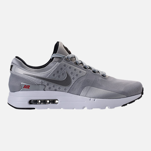 Right view of Men's Nike Air Max Zero Running Shoes in Metallic Silver/Varsity Red/Black