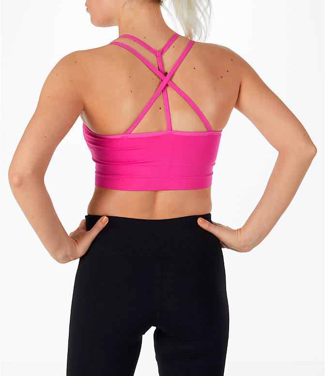 Front view of Women's Activ8 Seamless Crop Bra in Pink