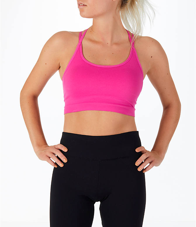 Front Three Quarter view of Women's Activ8 Seamless Crop Bra in Pink