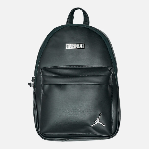 Front view of Jordan Regal Air Mini Backpack in Black
