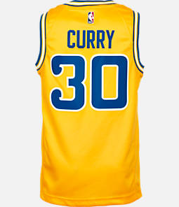 Kids' Nike Golden State Warriors NBA Stephen Curry Hardwood Classics Swingman Jersey