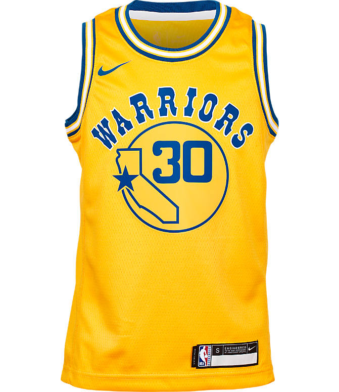 87dc832af Back view of Kids  Nike Golden State Warriors NBA Stephen Curry Hardwood  Classics Swingman Jersey