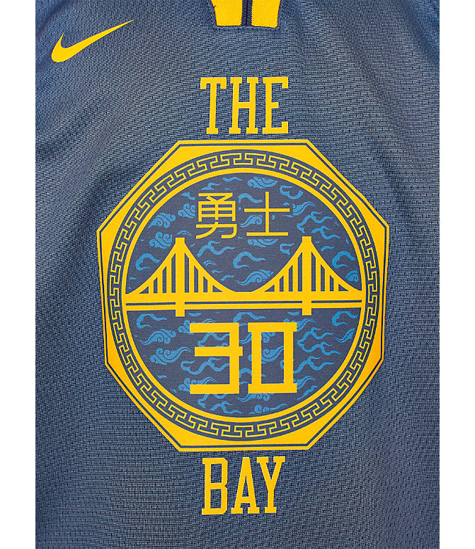 finest selection d3b2c 7e439 Kids' Nike Golden State Warriors NBA Stephen Curry City Edition Swingman  Connected Jersey