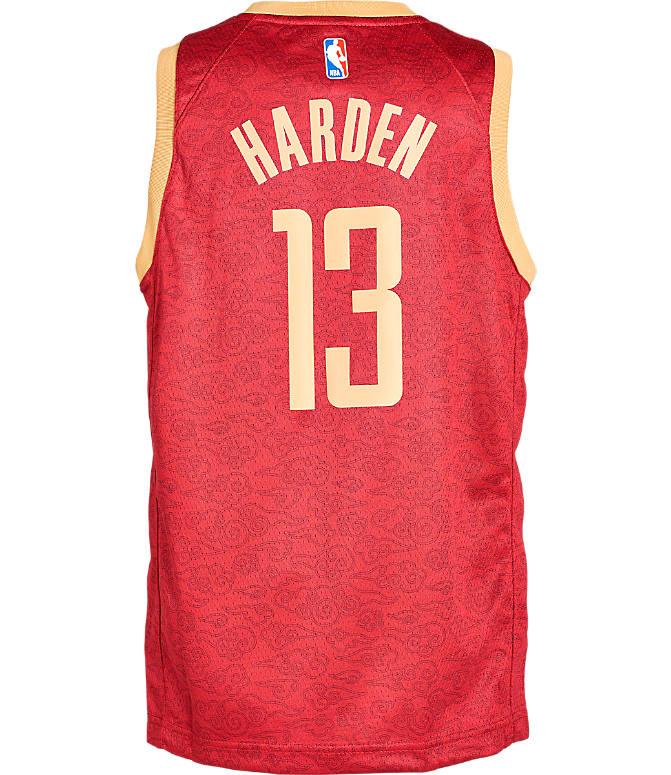 pretty nice f5017 0b925 Kids' Nike Houston Rockets NBA James Harden City Edition Swingman Connected  Jersey