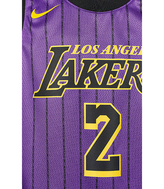 hot sale online bf6d4 050e5 Kids' Nike Los Angeles Lakers NBA Lonzo Ball City Edition Swingman  Connected Jersey
