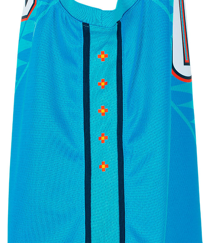 Product 4 view of Kids' Nike Oklahoma City Thunder NBA Russel Westbrook City Edition Swingman Connected Jersey in Blue