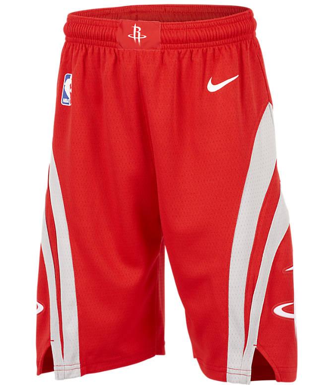 d66e18aa3 Front view of Kids  Nike Houston Rockets NBA Swingman Shorts in University  Red