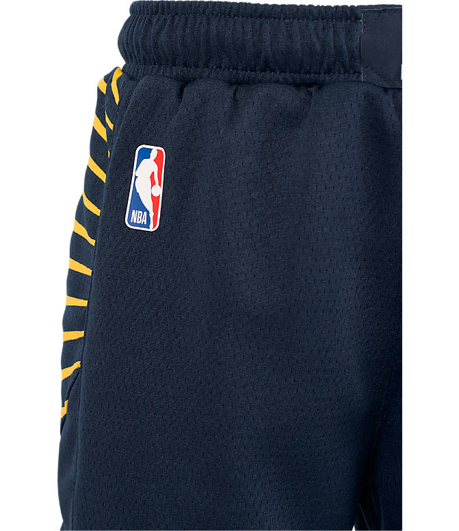 Back view of Kids' Nike Indiana Pacers NBA Swingman Shorts in Navy