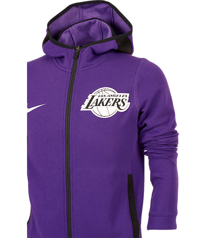 e38d412d18d Back view of Kids' Nike Los Angeles Lakers NBA Showtime Full-Zip Hoodie in