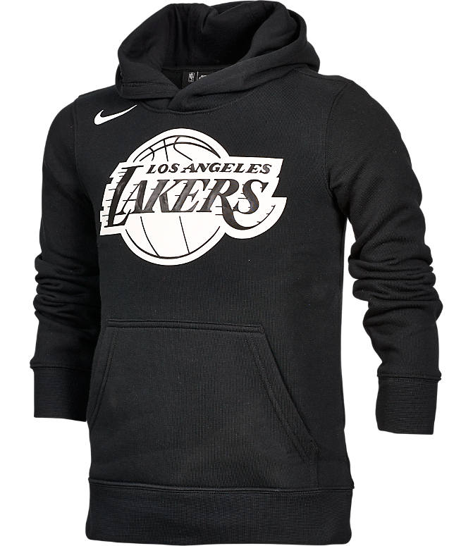 Front view of Kids' Nike Los Angeles Lakers NBA Logo Hoodie in Amarillo