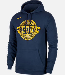 Kids' Nike Golden State Warriors NBA City Edition Logo Essential Hoodie