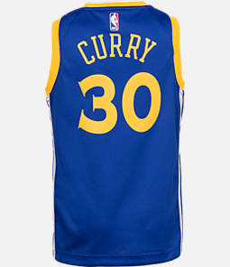 Kids' Nike Golden State Warriors NBA Stephen Curry Icon Edition Swingman Connected Jersey