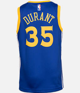 Kids' Nike Golden State Warriors NBA Kevin Durant Icon Edition Swingman Connected Jersey