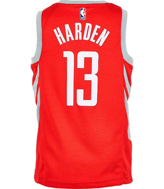 Front view of Kids' Nike Houston Rockets NBA James Harden Icon Edition Swingman Jersey in University Red
