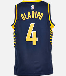 cheap for discount f18b4 f5a92 Kids  Nike Indiana Pacers NBA Victor Oladipo Icon Edition Swingman Jersey