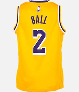 Kids' Nike Los Angeles Lakers NBA Lonzo Ball Icon Edition Swingman Jersey