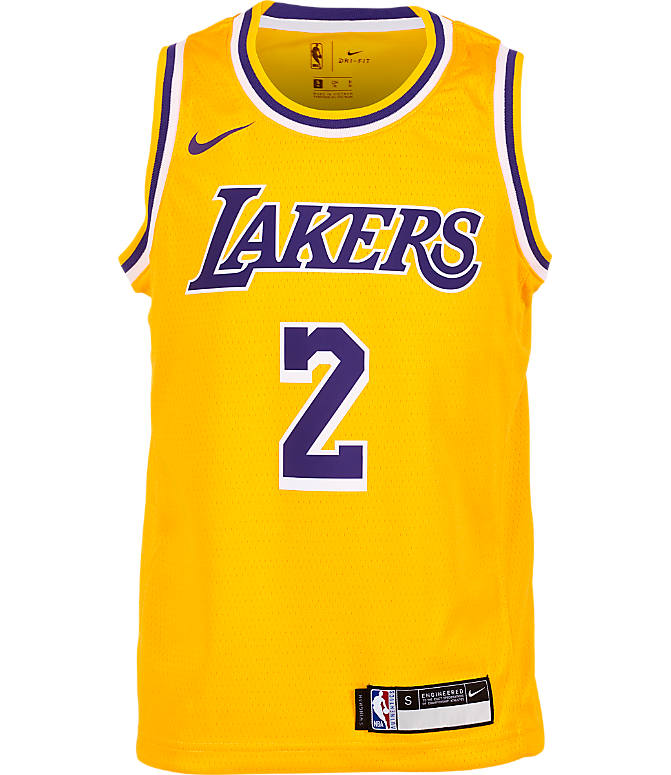 56f00f2c Back view of Kids' Nike Los Angeles Lakers NBA Lonzo Ball Icon Edition Swingman  Jersey