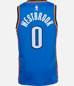 Kids' Nike Oklahoma City Thunder NBA Russell Westbrook Icon Edition Swingman Connected Jersey